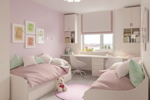 Pokój dziecka z dwoma łóżkami